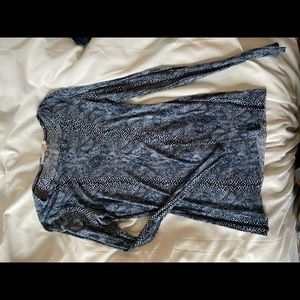 Tory Burch snakeprint thin cotton long sleeve tee